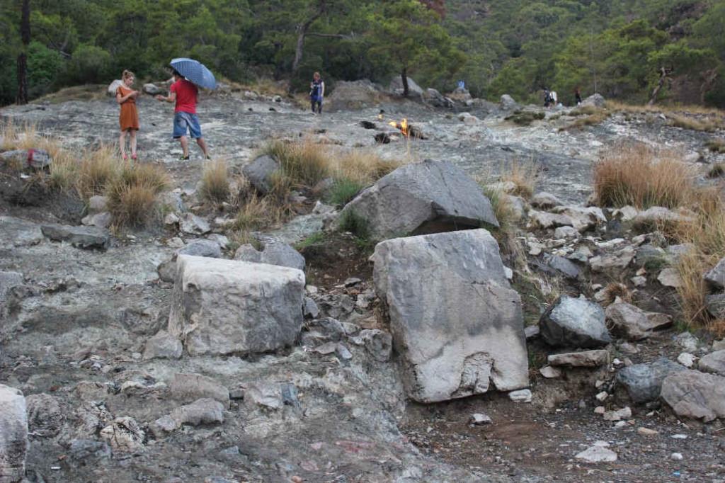 Туристы на горе Янарташ